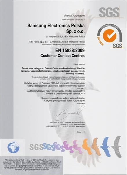 certfikat-sgs-en-1538-dla-samsung-electronics-polska-sp-z-o-o