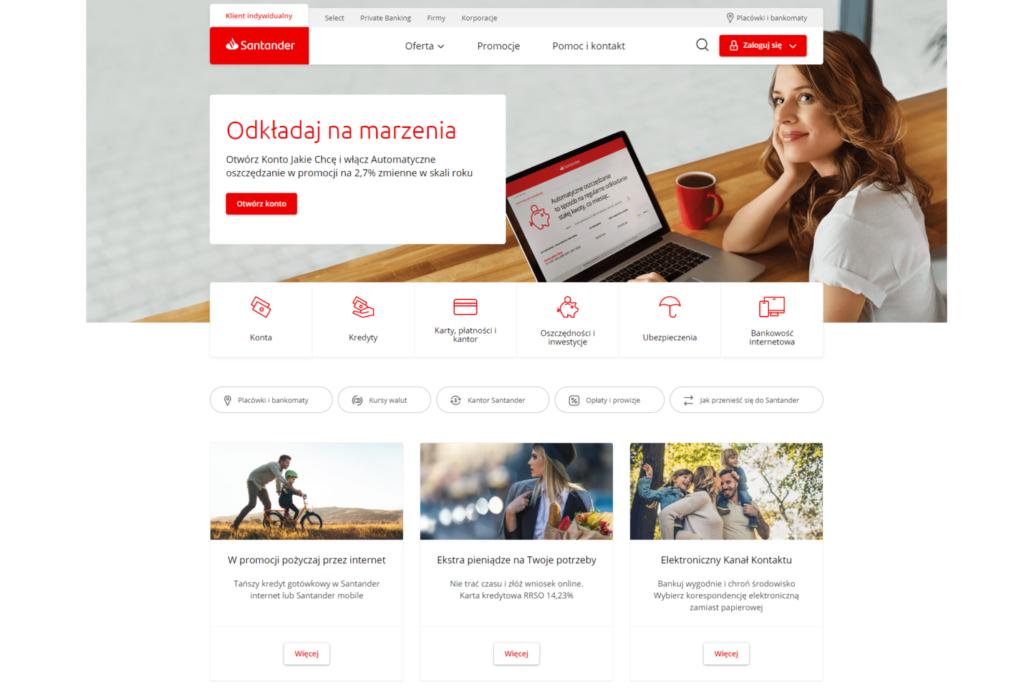 Strona Santander Bank Polska W Nowej Odslonie Mojebankowanie Pl
